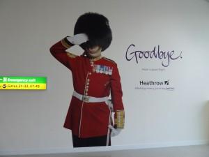 Abschiedsgrüße aus London Heathrow
