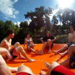 Gummiinsel auf dem See