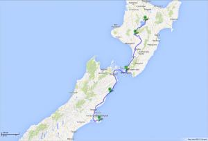 von Taupo nach Akaroa