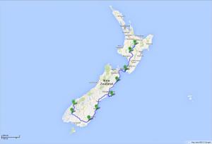 von Taupo zum Milford Sound