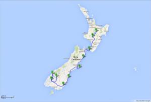 von Taupo nach Queenstown